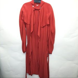Burnt sienna open front Harlan cape style jacket
